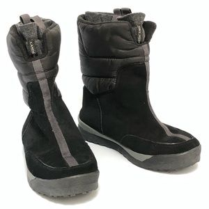 Lands' End Womens Black Suede Winter Boots, SZ 7